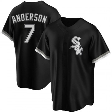 Replica Tim Anderson Youth Chicago White Sox Black Alternate Jersey